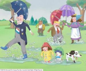 Puzle Um dia chuvoso no Reino da Princesinha