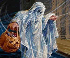 Puzle Um fantasma de Halloween