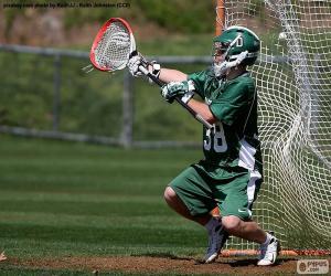 Puzle Um goleiro de lacrosse