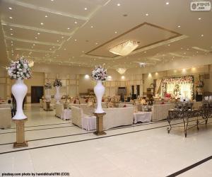 Puzle Um grande salão de casamento