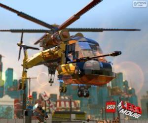 Puzle Um helicóptero do filme Lego