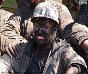 Puzle Um mineiro sorridente
