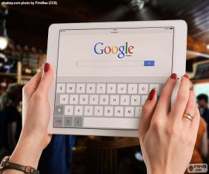 Puzle Um tablet