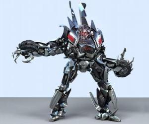 Puzle Um transformador, um robô inteligente. Transformadores