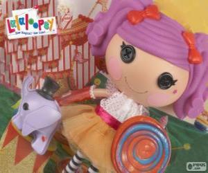 Puzle Uma boneca Lalaloopsy, Peanut Big Top com seu animal de estimação, um elefante