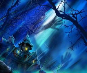Puzle uma casa assombrada para noite de Halloween