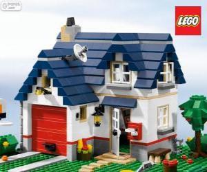 Puzle Uma casa de Lego