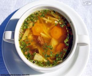 Puzle Uma sopa quente