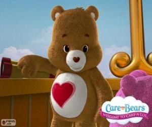 Puzle Ursinho do Coração, o ursinho com um coração sobre a barriga