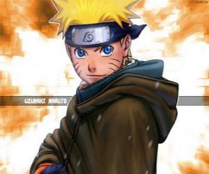 Puzle Uzumaki Naruto é o herói das aventuras de um jovem ninja