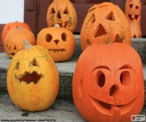 Puzle Várias abóboras de Halloween