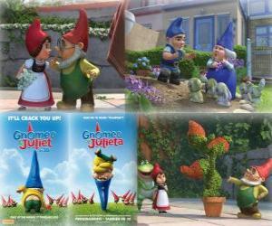 Puzle Várias fotos de Gnomeo e Julieta