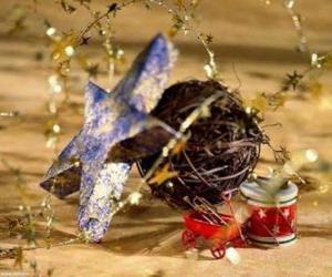 Puzle Vários enfeites do Natal