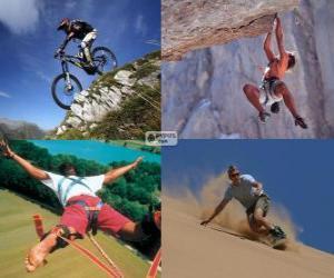 Puzle Vários esportes extremos e da aventura