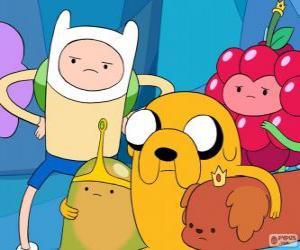 Puzle Vários personagens de Adventure Time, Hora de Aventura