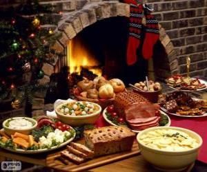 Puzle Vários pratos para o Natal