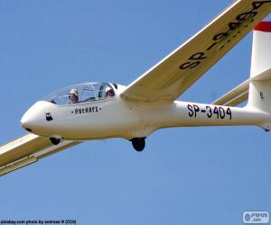 Puzle Vôo sem motor, planador