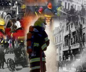 Puzle Várias fotos de bombeiros
