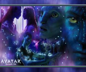 Puzle Várias fotos de Jake e na'vi avatar Neytiri