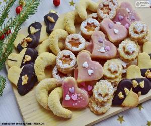 Puzle Variedade de biscoitos de Natal