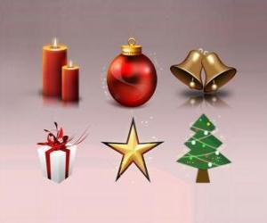 Puzle Vários enfeites de Natal