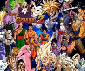 Puzle Vários personagens de Dragon Ball