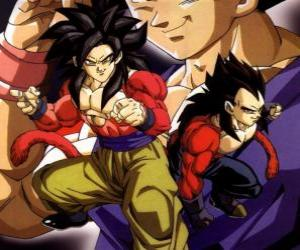 Puzle Vegeta, o príncipe Saiyajin, um da raça mais poderosa dos guerreiros do universo.
