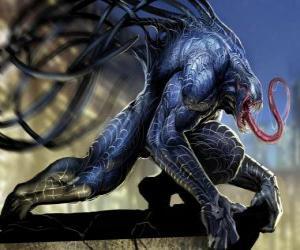 Puzle Venom é uma forma de vida simbionte e um dos arquiinimigos do Homem-Aranha