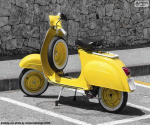 Puzle Vespa amarela