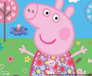 Puzle Vestido de flor Peppa Pig