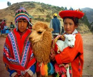 Puzle Vestidos tradicionais de Inca