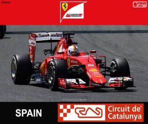 Puzle Vettel G.P Espanha 2015