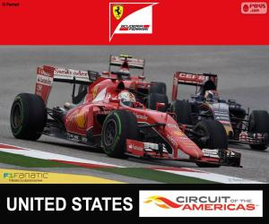 Puzle Vettel, G.P Estados Unidos 2015