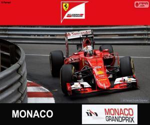 Puzle Vettel G.P. Mónaco 2015