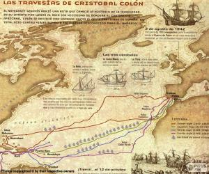 Puzle Viagens de Cristóvão Colombo