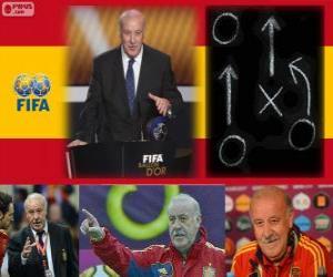 Puzle Vicente del Bosque treinador de futebol masculino da FIFA 2012