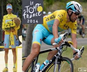 Puzle Vincenzo Nibali, campeão do Tour de France 2014