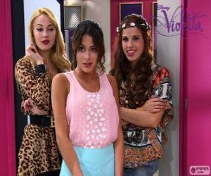Puzle Violetta com Ludmila e Camila