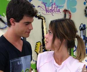 Puzle Violetta e Diego