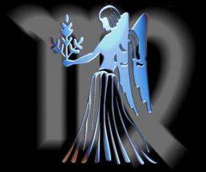 Puzle Virgem ou Virgo. A donzela virgem. Sexto signo do zodíaco. Nome em latim é Virgo