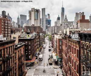 Puzle Vista de rua em Manhattan