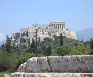 Puzle Vista dos templos duma cidade grega