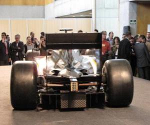 Puzle Vista traseira, F1 HRT