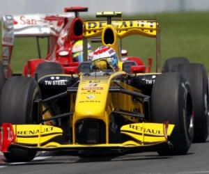 Puzle Vitaly Petrov - Renault - 2010 Montreal