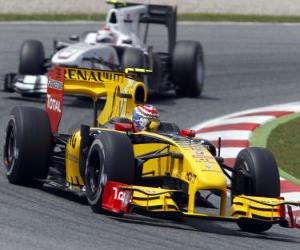 Puzle Vitaly Petrov - Renault - Barcelona 2010