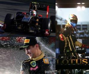 Puzle Vitaly Petrov - Renault - Melbourne, Grande Prémio da Austrália (2011) (3 º lugar)