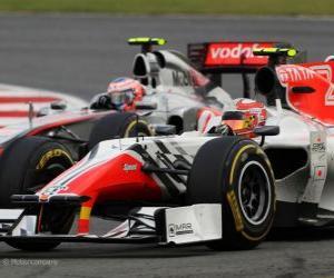 Puzle Vitantonio Liuzzi - HRT - Silverstone 2011