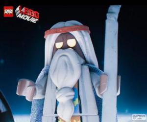 Puzle Vitruvius, o velho feiticeiro do filme, a grande aventura de Lego