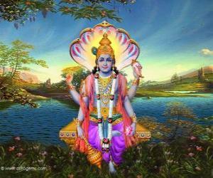 Puzle Vixnu, o deus preservador do Trimurti
