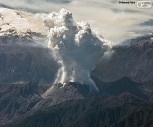 Puzle Vulcão em erupçaõ